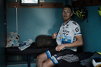 Matteo TRENTIN (ITA/Mitchelton-Scott) after a though day on the bike<br /> <br /> 81st Gent-Wevelgem 'in Flanders Fields' 2019<br /> One day race (1.UWT) from Deinze to Wevelgem (BEL/251km)<br /> <br /> ©kramon