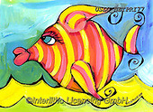Nettie,REALISTIC ANIMALS, REALISTISCHE TIERE, ANIMALES REALISTICOS, paintings+++++StripeyBigLipFish,USLGNETPRI77,#A#, EVERYDAY pop art