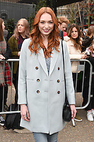 Eleanor Tomlinson<br /> arrives for the Topshop Unique AW17 show as part of London Fashion Week AW17 at Tate Modern, London.<br /> <br /> <br /> ©Ash Knotek  D3232  19/02/2017