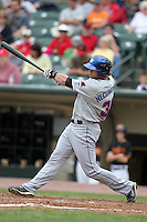 Buffalo Bisons center fielder Kirk Nieuwenhuis during a game vs. the Rochester Red Wings at Frontier Field in Rochester, New York;  September 6, 2010.  Buffalo defeated Rochester 16-1 in the season finale for both teams.  Photo By Mike Janes/Four Seam Images