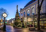 Christmas lights at Quincy Market, Faneuil Hall Marketplace, Boston, Massachusetts, USA