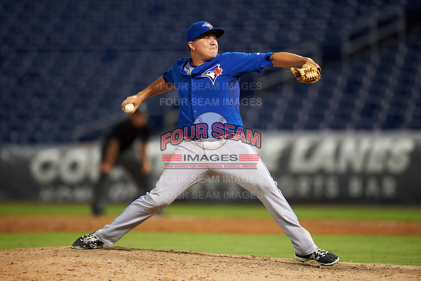 GCL Blue Jays relief pitcher William Ouellette (67) during a game against the GCL Phillies on August 16, 2016 at Bright House Field in Clearwater, Florida.  GCL Blue Jays defeated GCL Phillies 2-1.  (Mike Janes/Four Seam Images)
