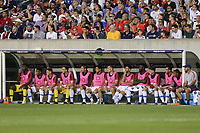 PHILADELPHIA, PENNSYLVANIA - JUNE 30: United States bench during the 2019 CONCACAF Gold Cup quarterfinal match between the United States and Curacao at Lincoln Financial Field on June 30, 2019 in Philadelphia, Pennsylvania.