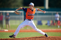 Preston Tabor (21) during the WWBA World Championship at Lee County Player Development Complex on October 9, 2020 in Fort Myers, Florida.  Preston Tabor, a resident of Burleson, Texas who attends Centennial High School, is committed to Dallas Baptist.  (Mike Janes/Four Seam Images)
