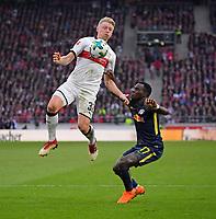 11.03.2018,  Football 1.Liga 2017/2018, 26. match day,  VfB Stuttgart - RB Leipzig, in Mercedes-Benz-Arena Stuttgart. v.li: Andreas Beck (Stuttgart)  -  Bruma (RB Leipzig). *** Local Caption *** © pixathlon<br /> <br /> +++ NED + SUI out !!! +++<br /> Contact: +49-40-22 63 02 60 , info@pixathlon.de