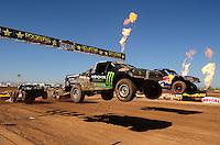 Apr 17, 2011; Surprise, AZ USA; LOORRS driver Johnny Greaves (16) during round 4 at Speedworld Off Road Park. Mandatory Credit: Mark J. Rebilas-