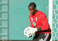 Bil lHamid #28 of D.C.United started his first game in goal during an MLS match against the Kansas City Wizards at RFK Stadium on May 5 2010, in Washington DC. United won 2-1