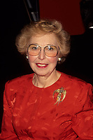 Montreal (Qc) CANADA - File Photo (between 1991 and 1995) - Sheila Finestone.<br /> <br /> <br /> Sheila Finestone passed away Monday June 8 2009 at 82.<br /> <br /> She was elected for the Liberal Party in  the 1984 Canadian election, in the former riding of Pierre-Eliott Trudeau. Later on she was a member of Canada Senate.