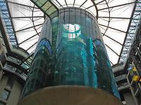 giant aquarium in the atrium of the SAS Radisson Berlin Germany