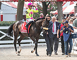 August 07, 2021: Solder Rising #1 ridden by jockey Irad Ortiz Jr. in the post parade for the Saratoga Derby Invitational (Grade 1) at Saratoga Race Course in Saratoga Springs, N.Y. Robert Simmons/Eclipse Sportswire/CSM