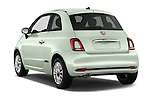 Car pictures of rear three quarter view of 2016 Fiat 500 Lounge 3 Door Hatchback Angular Rear