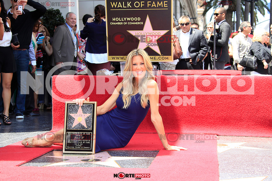 Ellen K is honored with the 2471st star on the Hollywood Walk of Fame. Los Angeles, California on 10.05.2012..Credit: Martin Smith/face to face /MediaPunch Inc. ***FOR USA ONLY***