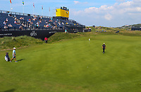 150719 | The 148th Open - Monday Practice<br /> <br /> Jon Rahm of Spain on the 18th green during practice for the 148th Open Championship at Royal Portrush Golf Club, County Antrim, Northern Ireland. Photo by John Dickson - DICKSONDIGITAL