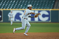 in game three of the 2020 Shriners Hospitals for Children College Classic at Minute Maid Park on February 28, 2020 in Houston, Texas. The Tigers defeated the Longhorns 4-3. (Brian Westerholt/Four Seam Images)