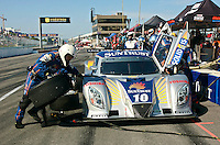 The #10 Ford Dallara of Max Angelelli and Ricky Taylor makes a pit stop during the Montreal 200, Circuit Gilles Villenueve, Montreal, Quebec, Canada, August 2010.  (Photo by Brian Cleary/www.bcpix.com)