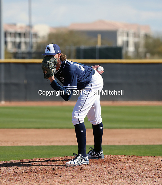 Chris Paddack - San Diego Padres 2019 spring training (Bill Mitchell)