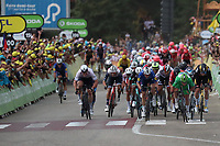 6th July 2021, Albertville, Auvergne-Rhône-Alpes, France;  TOUR DE FRANCE 2021- UCI Cycling World Tour. Stage 10 from Albertville to Valence on the 6th of July 2021, as the front finishers cross the line in Valence, France.