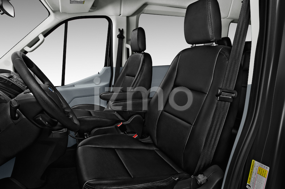 Front seat view of 2016 Ford Transit 350-XLT-Wagon-High-Roof-Pass-Slide-148WB 4 Door Passenger Van Front Seat  car photos