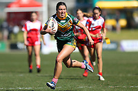 The Wyong Roos play Kincumber Colts in Round 17 of the Ladies League Tag Central Coast Rugby League Division at Morry Breen Oval on 18th of August, 2019 in Kanwal, NSW Australia. (Photo by Paul Barkley/LookPro)