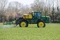 19-4-2021 Spraying Winter wheat in Lincolnshire <br /> ©Tim Scrivener Photographer 07850 303986<br />      ....Covering Agriculture In The UK....