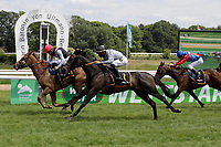 17th May 2020, Cologne, Nordrhein-Westfalen, Germany; No Limit Credit with Clement Lecoeuvre wins the black gold race racecourse Cologne Weidenpesch