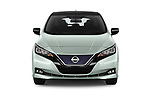 Car photography straight front view of a 2018 Nissan Leaf Tekna 5 Door Hatchback