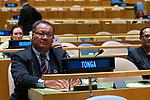 His Majesty King Tupou VI, King, Kingdom of Tonga<br /> <br /> General Assembly Seventy-fourth session, 7th plenary meeting