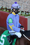 January 22, 2021: Jockey Quincy Hamilton before the fifth race at Oaklawn Racing Casino Resort in Hot Springs, Arkansas on January 22, 2021. Justin Manning/Eclipse Sportswire/CSM