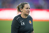 Orlando, FL - Saturday March 24, 2018: Utah Royals head coach Laura Harvey prior to a regular season National Women's Soccer League (NWSL) match between the Orlando Pride and the Utah Royals FC at Orlando City Stadium. The game ended in a 1-1 draw.