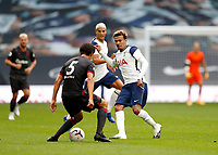 28th August 2020; Tottenham Hotspur Stadium, London, England; Pre-season football friendly; Tottenham Hotspur v Reading FC;  Dele Alli of Tottenham Hotspur being challenged by Tom McIntyre of Reading