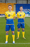 St Johnstone FC 's Jamie McCart and Jason Kerr wearing the away kit for the 2020-21 Season.<br />Picture by Graeme Hart.<br />Copyright Perthshire Picture Agency<br />Tel: 01738 623350  Mobile: 07990 594431