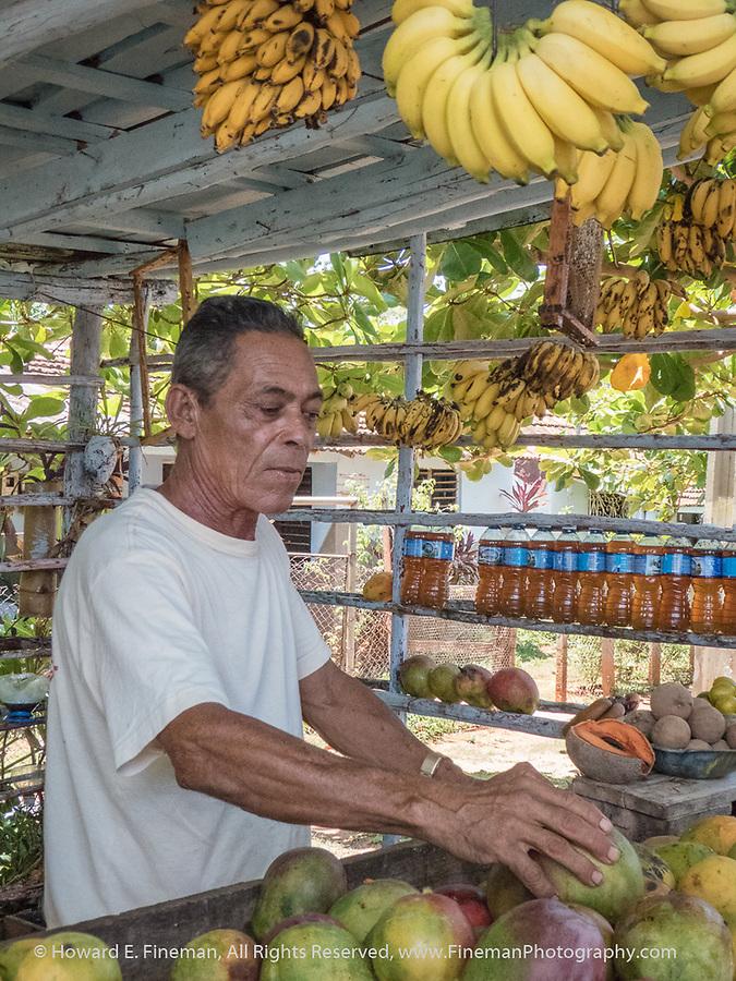 Roadside fruit stand near Trinidad - incredible mangos