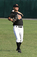 August 19, 2005:  Pitcher Alberto Bastardo of the Bluefield Orioles during a game at Bowen Field in Bluefield, WV.  Bluefield is the Appalachian League Class-A affiliate of the Baltimore Orioles.  Photo by:  Mike Janes/Four Seam Images