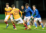 St Johnstone v Motherwell…21.11.20   McDiarmid Park      SPFL<br />Jamie McCart and Callum Lang<br />Picture by Graeme Hart.<br />Copyright Perthshire Picture Agency<br />Tel: 01738 623350  Mobile: 07990 594431