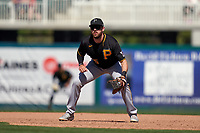 Pittsburgh Pirates first baseman Will Craig (35) during a Major League Spring Training game against the Minnesota Twins on March 16, 2021 at Hammond Stadium in Fort Myers, Florida.  (Mike Janes/Four Seam Images)