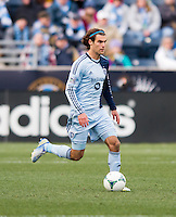 Graham Zusi.  Sporting Kansas City defeated Philadelphia Union, 3-1. at PPL Park in Chester, PA.