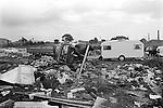 Gypsy inner city camp site Balsall Heath Birmingham UK 1968