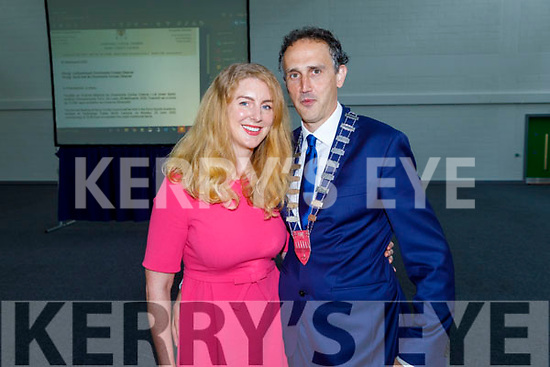 Cllr Patrick O'Connor Scarteen elected Cathaoirleach of Kerry County Council at the County Council meeting on Monday pictured with his wife Katie.