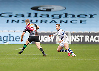 26th December 2020; Twickenham Stoop, London, England; English Premiership Rugby, Harlequins versus Bristol Bears; Louis Lynagh of Harlequins side stepping a potential tackle