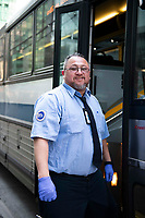3/26/20-New York, New York City. New Yorkers are told to stay home during the coronavirus, (COVID-19) so New York has become eerily empty. A giant shout out and thank you to the MTA transit workers who continue driving our buses and subways to ferry the few passengers that sincerely need it in New York City. Thank you to the remaining airline workers on the ground and in the air. Taken at a safe social distance with a long lens.
