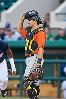 Bradenton Marauders catcher Christian Kelley (7) during the Florida State League All-Star Game on June 17, 2017 at Joker Marchant Stadium in Lakeland, Florida.  FSL North All-Stars defeated the FSL South All-Stars  5-2.  (Mike Janes/Four Seam Images)