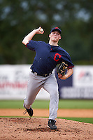 Pitcher Michael Bienlien (30) of Great Bridge High School in Chesapeake, Virginia playing for the Cleveland Indians scout team during the East Coast Pro Showcase on July 28, 2015 at George M. Steinbrenner Field in Tampa, Florida.  (Mike Janes/Four Seam Images)