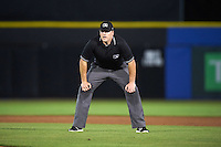 Umpire Matt Snodgrass during a game between the Palm Beach Cardinals and Dunedin Blue Jays on April 15, 2016 at Florida Auto Exchange Stadium in Dunedin, Florida.  Dunedin defeated Palm Beach 8-7.  (Mike Janes/Four Seam Images)