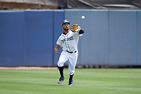 Charlotte Stone Crabs center fielder Garrett Whitley (16) during a Florida State League game against the Palm Beach Cardinals on April 14, 2019 at Charlotte Sports Park in Port Charlotte, Florida.  Palm Beach defeated Charlotte 5-3.  (Mike Janes/Four Seam Images)