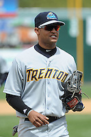 Trenton Thunder outfielder Mason Williams (9) during game against the New Britain Rock Cats at New Britain Stadium on May 7 2014 in New Britain, CT.  Trenton defeated New Britain 6-4.  (Tomasso DeRosa/Four Seam Images)