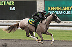 April 03, 2014: Hip 123 Unbridled's Song - Lady's Touch consigned by Niall Brennan worked 1/8 in 10:0.  Candice Chavez/ESW/CSM