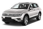 2017 Volkswagen Tiguan Comfortline 5 Door Suv Angular Front stock photos of front three quarter view