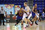 LLIGA NACIONAL CATALANA ACB 2020 AON.<br /> Barça vs Baixi Manresa: 92-82.<br /> Adam Hanga vs Scott Eatherton.
