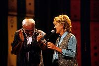 Hommage a Yvon Deschamps  et Clemence Desrocher au Festival juste Pour Rire 1994<br /> <br />  (exact date unknown)<br /> <br /> PHOTO :  Agence Quebec Presse