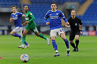 Harry Wilson of Cardiff City in action during the Sky Bet Championship match between Cardiff City and Preston North End at the Cardiff City Stadium, Cardiff, Wales, UK. Saturday 20 February 2021